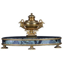 Empire Bronze Writing Set Inkwell 19th Century Fire-Gilt