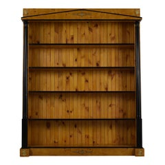Empire Burled Veneered Open Bookcase, circa 1970s