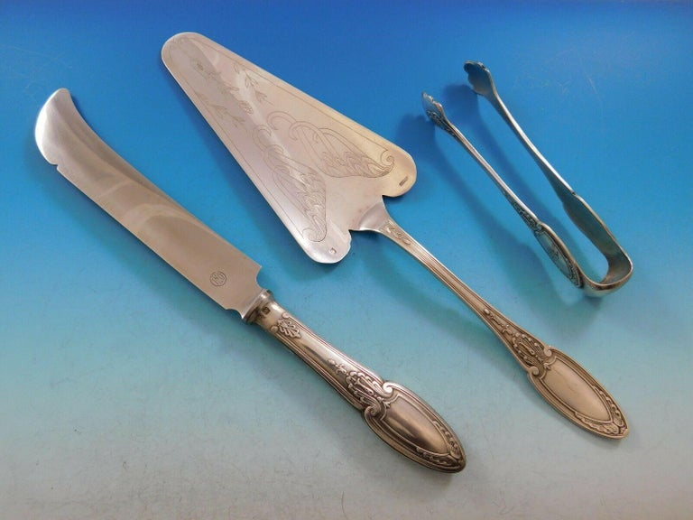 Empire by Ercuis Silverplate Flatware Set Service Dinner French 122 Pieces 2