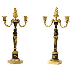 Empire Candelabras, Attr. Friedrich Bergenfeldt, Early 19th Century