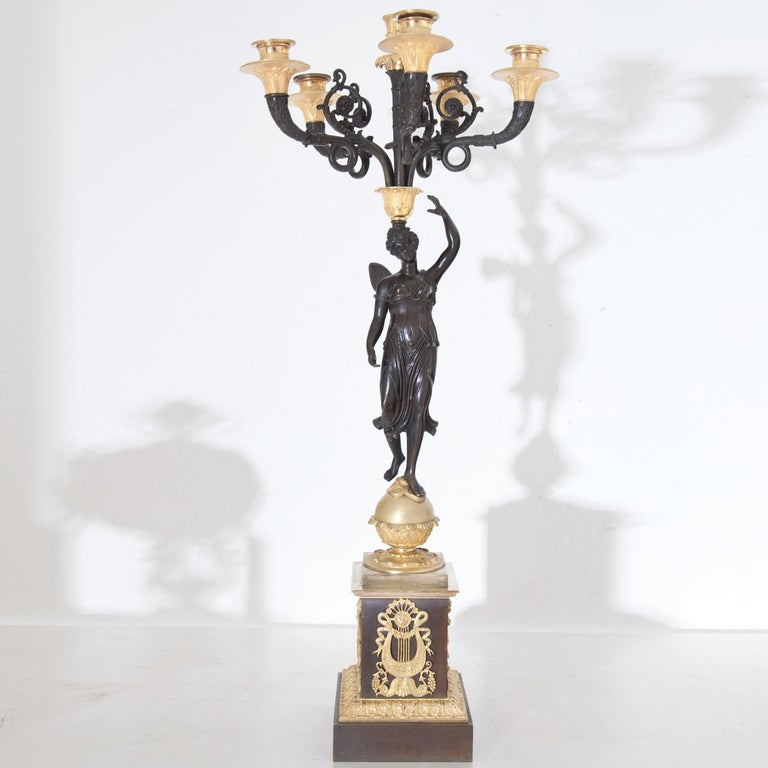 Empire Candelabras, France, Early 19th Century For Sale 5