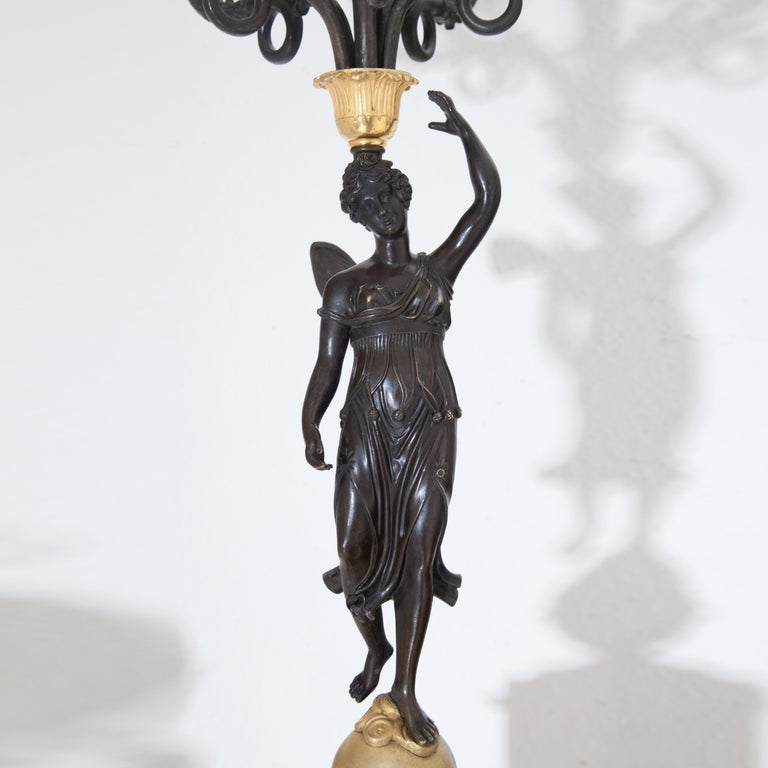 Empire Candelabras, France, Early 19th Century For Sale 6