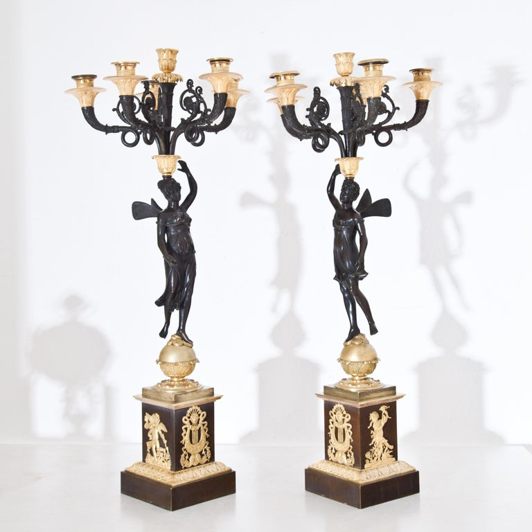 Empire Candelabras, France, Early 19th Century For Sale 12