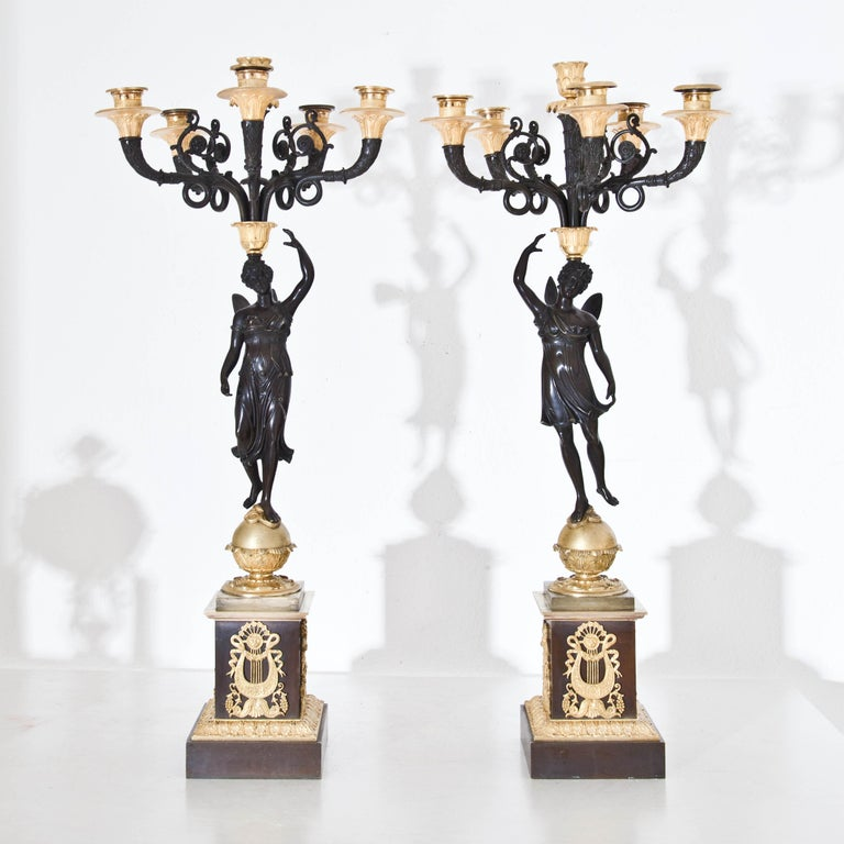 French Empire Candelabras, France, Early 19th Century For Sale