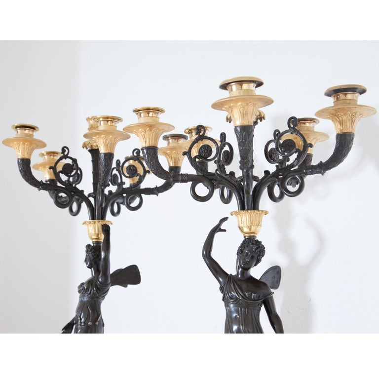Empire Candelabras, France, Early 19th Century In Good Condition For Sale In Greding, DE