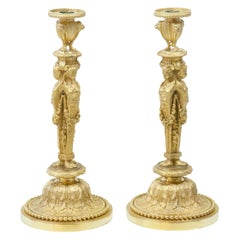 Empire Candlesticks, J.-D. Dugourc, France, Early 19th Century