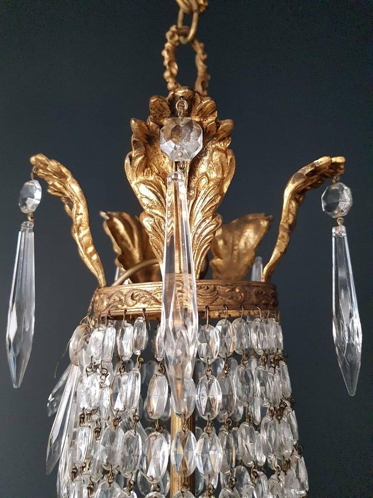 Montgolfière Empire Chandelier Crystal Sac a Pearl Lamp Lustre Art Nouveau 11
