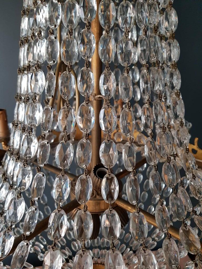 Empire Leuchter Kristall Sac eine Perle Lampe Glanz Jugendstil 12