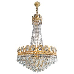 Empire Chandelier Crystal Sac a Pearl Lamp Lustre Art Nouveau