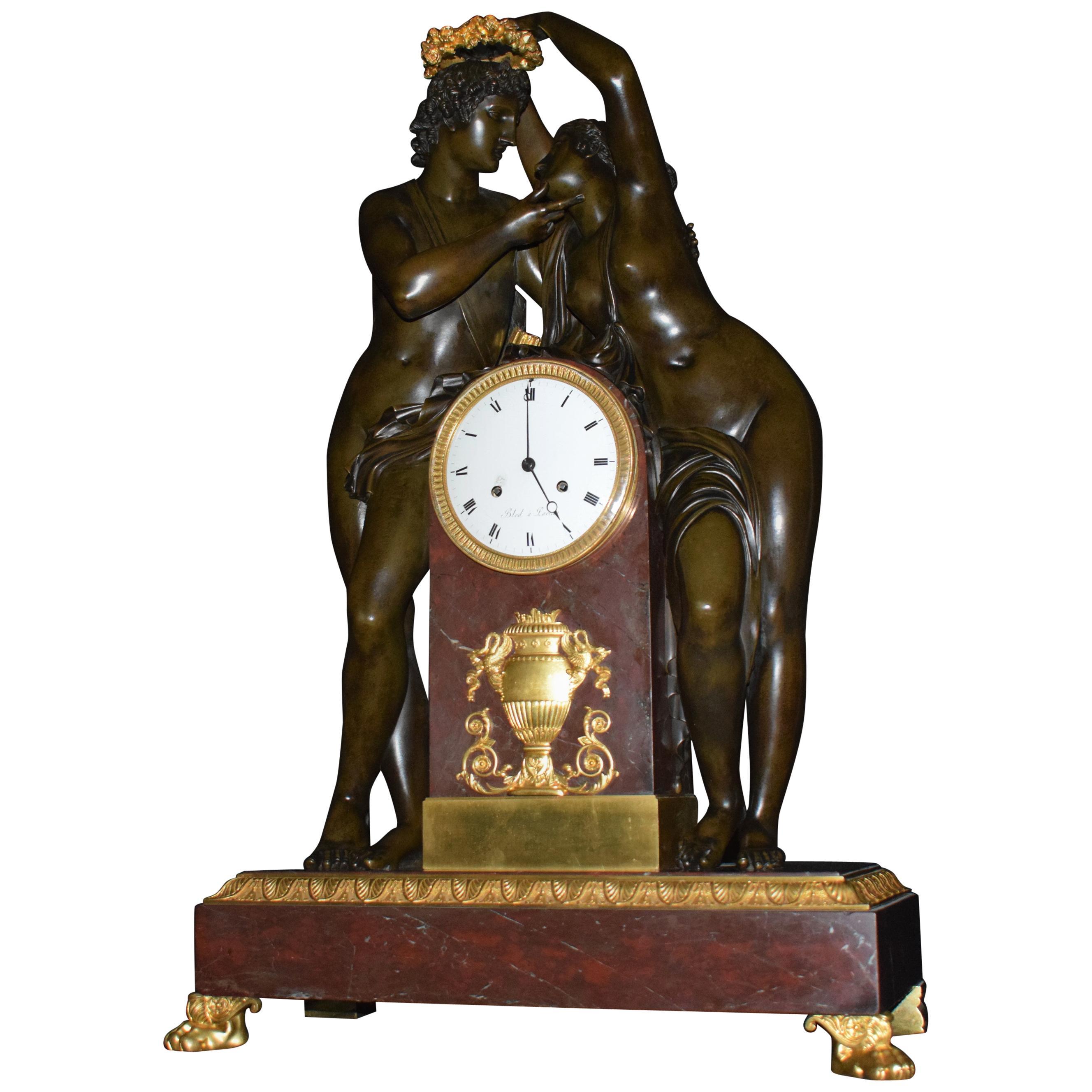 "Empire Clock, ""Cupid & Psyche"""