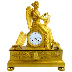 Empire Clock Depicting Clio the Muse of History and Music