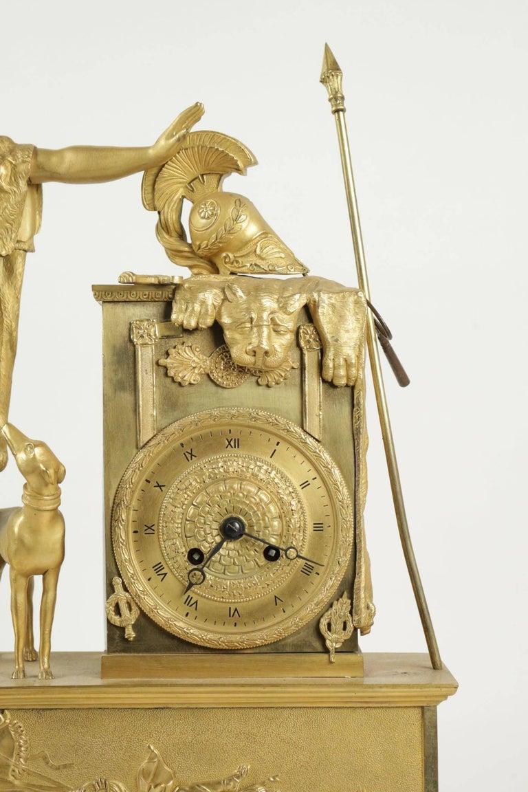 French Empire Clock from the 19th Century For Sale