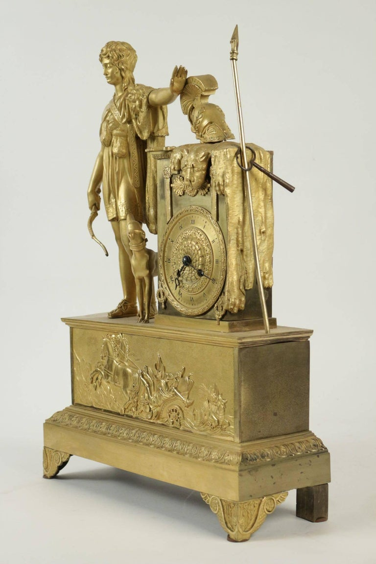 Empire Clock from the 19th Century For Sale 1