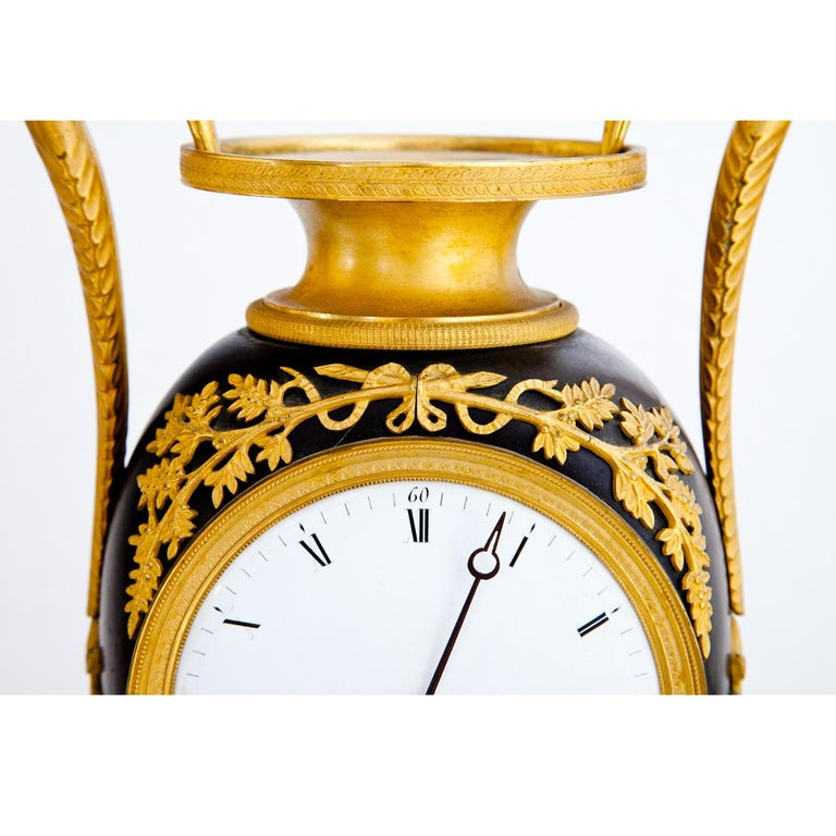 Empire Clock, Signed Griebel, France, First Quarter of the 19th Century For Sale 6