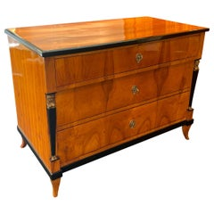 Empire Commode or Chest of Three Drawers with Caryatids South Germany circa 1815