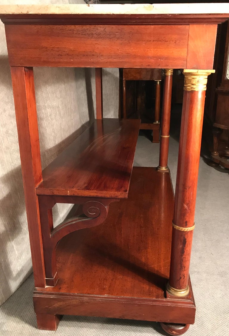 Empire Console Table, France, 19th Century In Good Condition For Sale In Belmont, MA