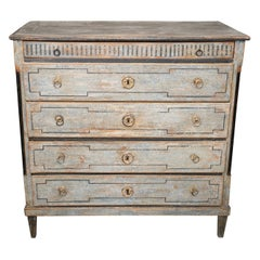 Empire Danish Painted Commode