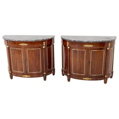 Empire Demi Lune Sideboards, France, c. 1810