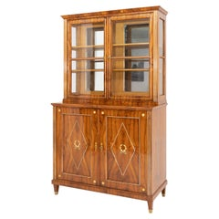 Empire Display Cabinet, Walnut, France, Early 19th Century