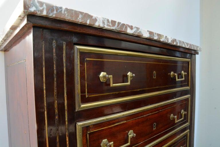 French Empire Dresser or Secretary, Paris, 1810s For Sale