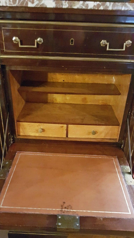 Brass Empire Dresser or Secretary, Paris, 1810s For Sale
