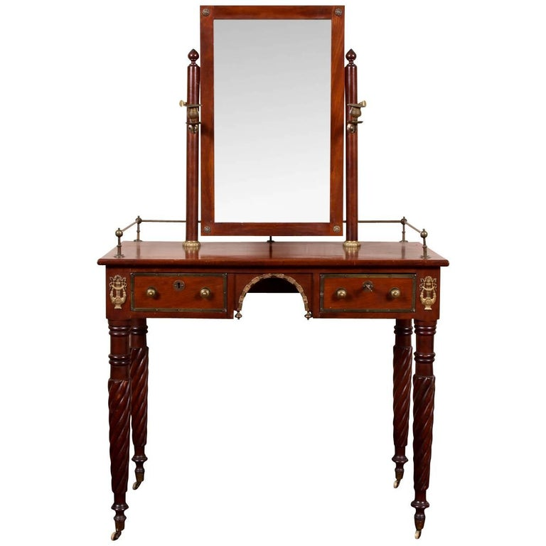 Empire Dressing Table With Mirror For