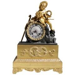 Empire Fire Gilded Mantel Clock, circa 1820