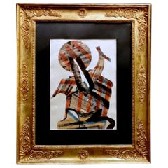 Empire Frame Gold Leaf France with Russian Constructivism Painting