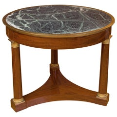 Empire French Center Table, 19th Century
