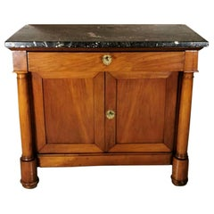 Empire French Sideboard with Cherrywood and Black Marble