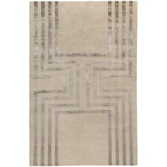 Empire Hand-Knotted 6x4 Floor Rug in Wool and Silk by Tim Gosling