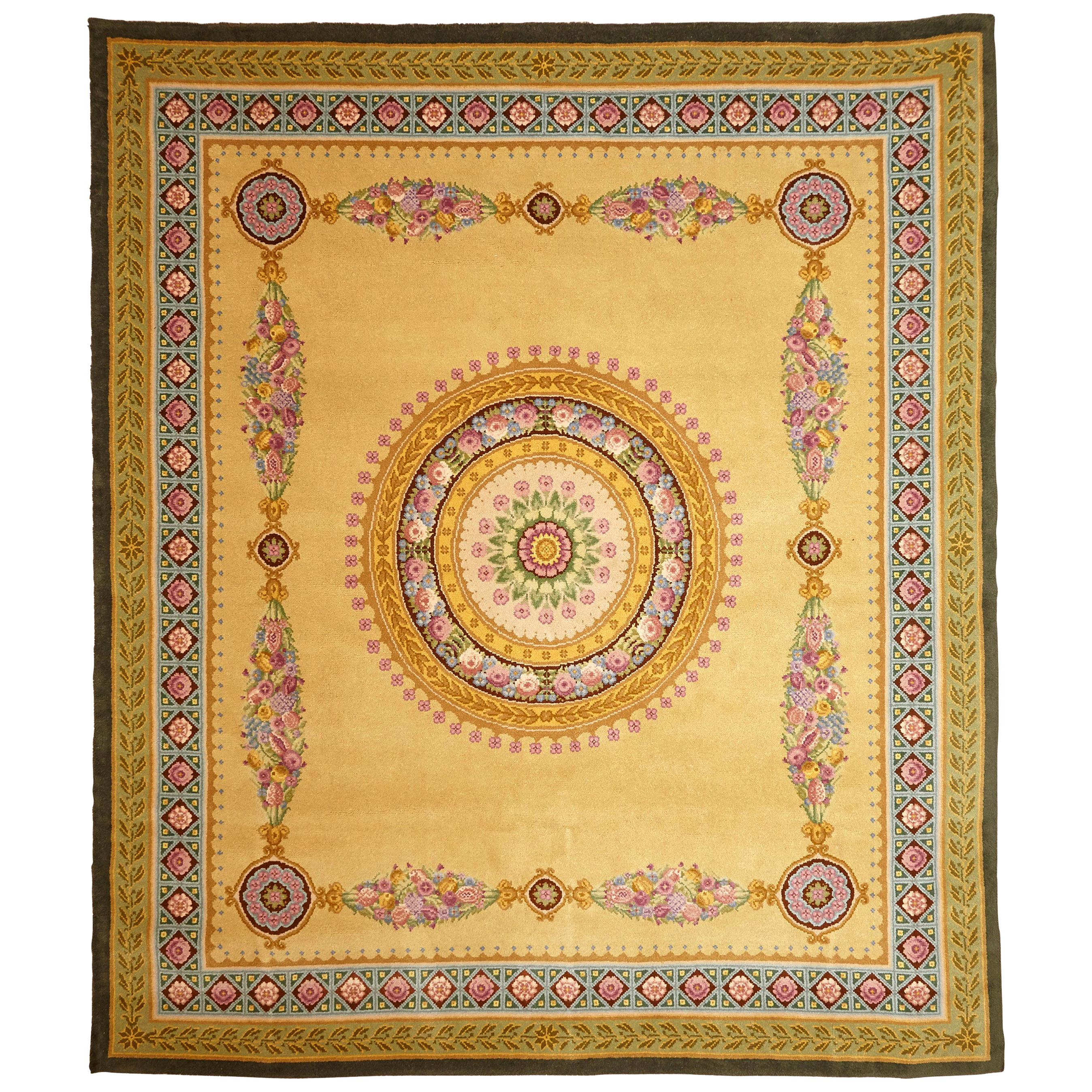 Empire Hand Knotted Wool Antique Reproduction Large Rug