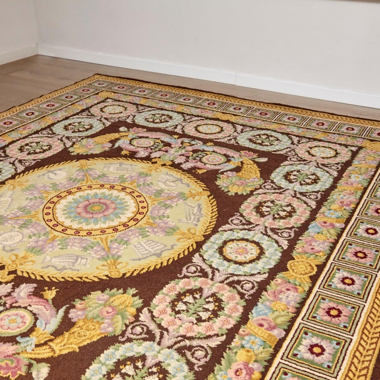 Empire, Hand Knotted Wool Antique Reproduction Rug For Sale 4