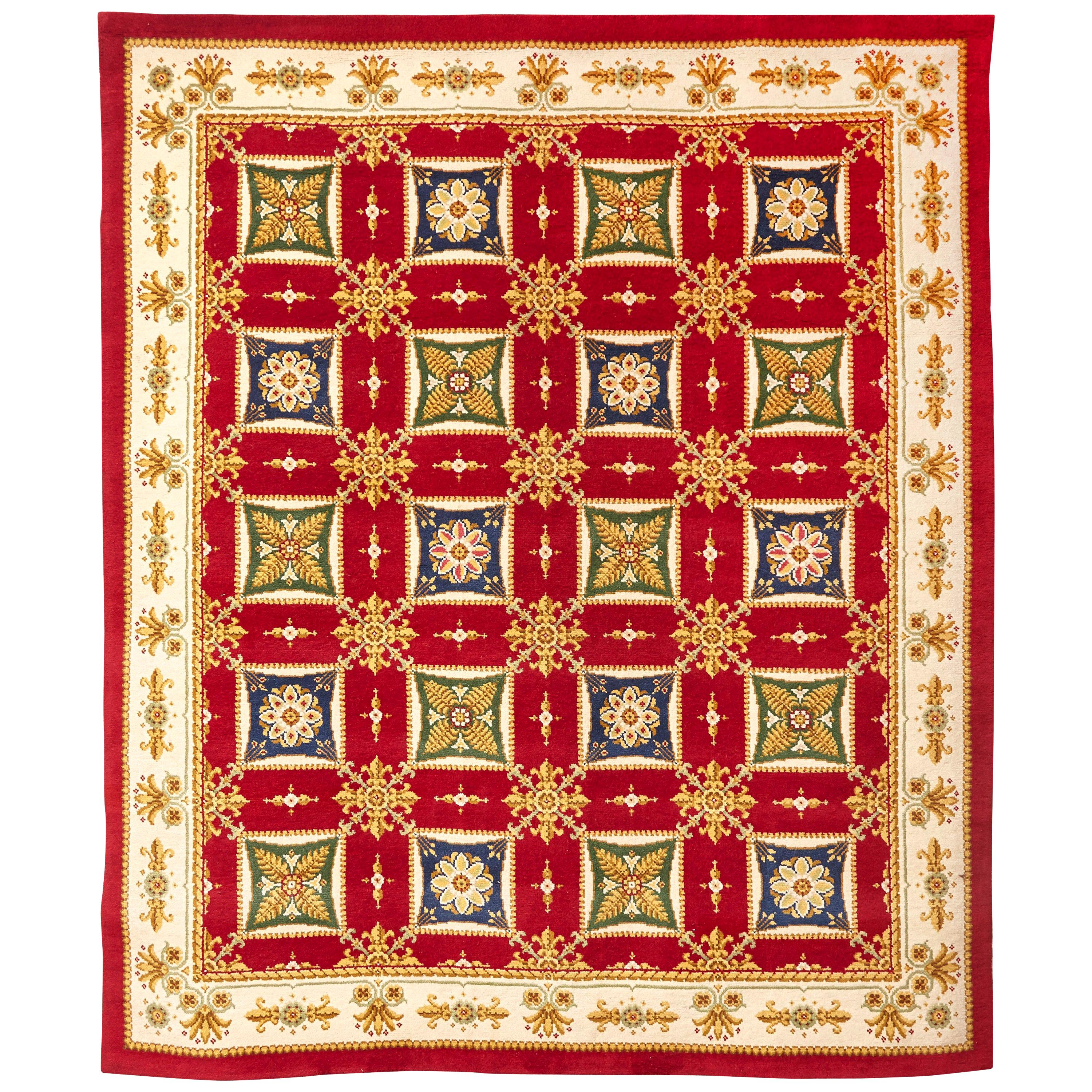 Empire Hand Knotted Wool Large Rug, circa 1970