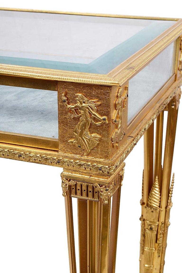 Empire Revival Empire Influenced Ormolu Bijouterie Table, circa 1900