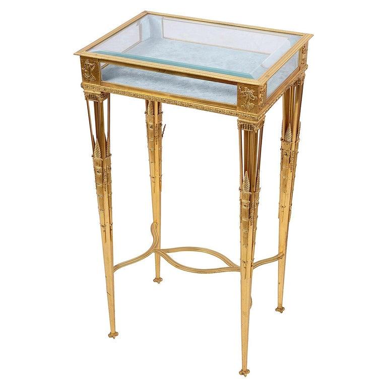 Empire Influenced Ormolu Bijouterie Table, circa 1900