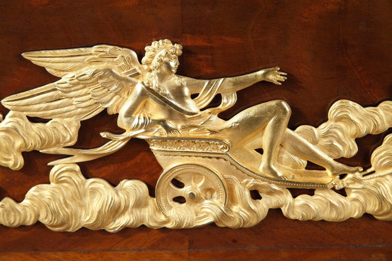 Empire Mahogany and Ormolu Sleight Bed For Sale 9