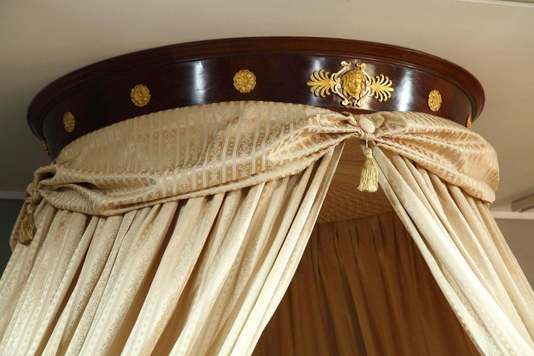 Empire Mahogany and Ormolu Sleight Bed For Sale 2