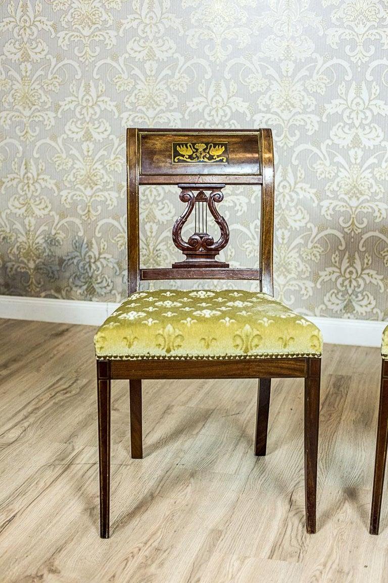 Empire Mahogany Chairs, circa 1810 For Sale 4