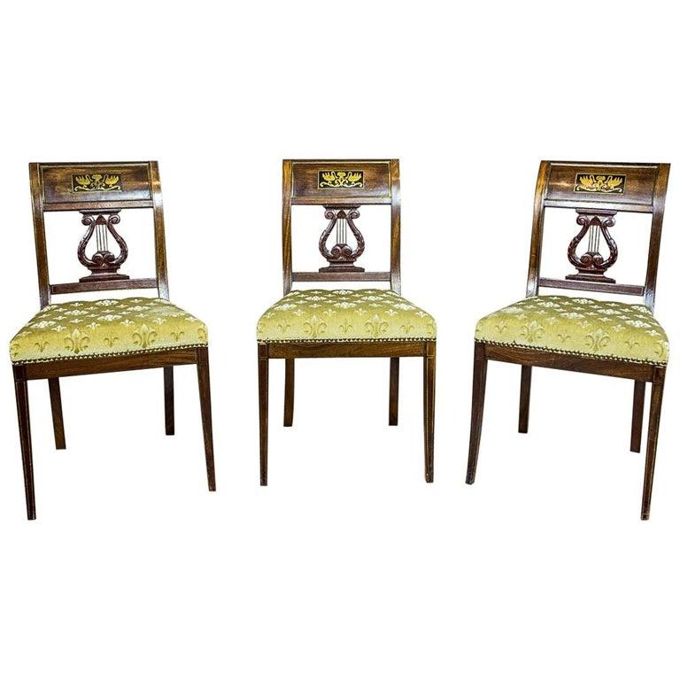Empire Mahogany Chairs, circa 1810 For Sale