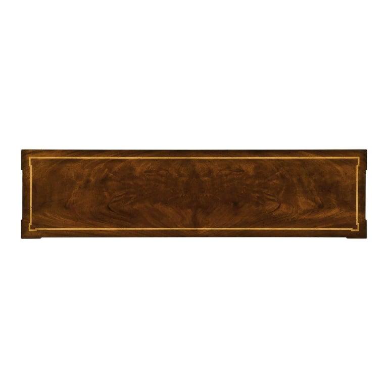 Contemporary Empire Mahogany Console Table For Sale