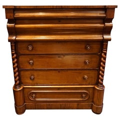 Empire Mahogany Highboy Dresser Unrestored
