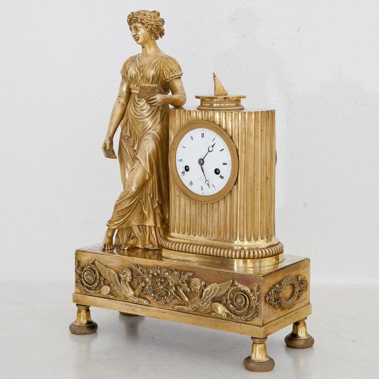 Empire Mantel Clock, France, circa 1810 11