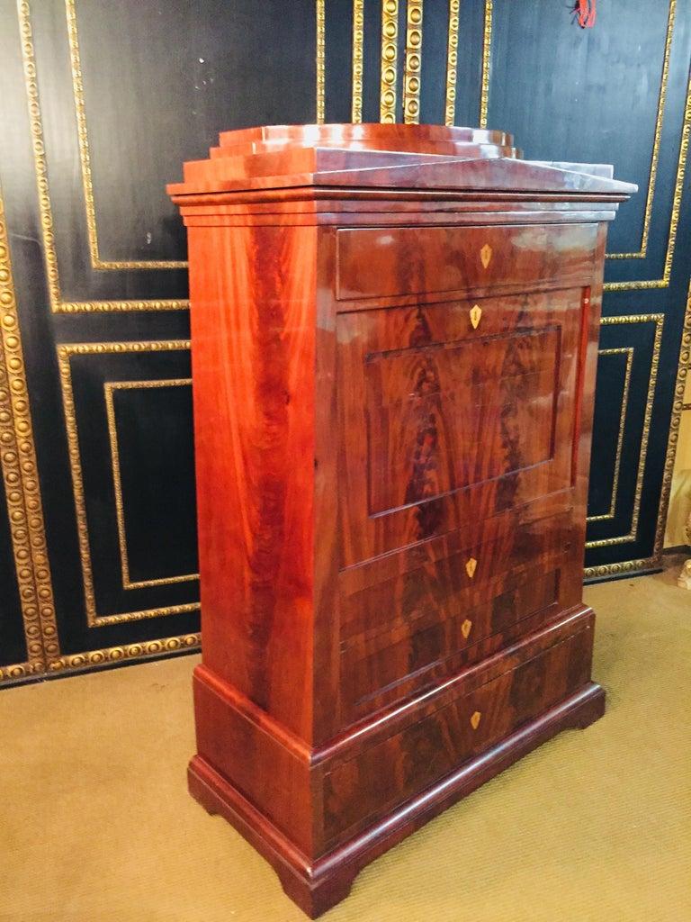 Empire or Biedermeier Secretary Mahogany, 1815 For Sale 3