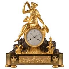"Empire Ormolu and Bronze ""Diana the hunter"" Clock, Gaston Jully, 1805"
