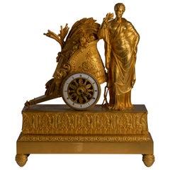 Empire Ormolu Mantel Clock 'Pendule au char'
