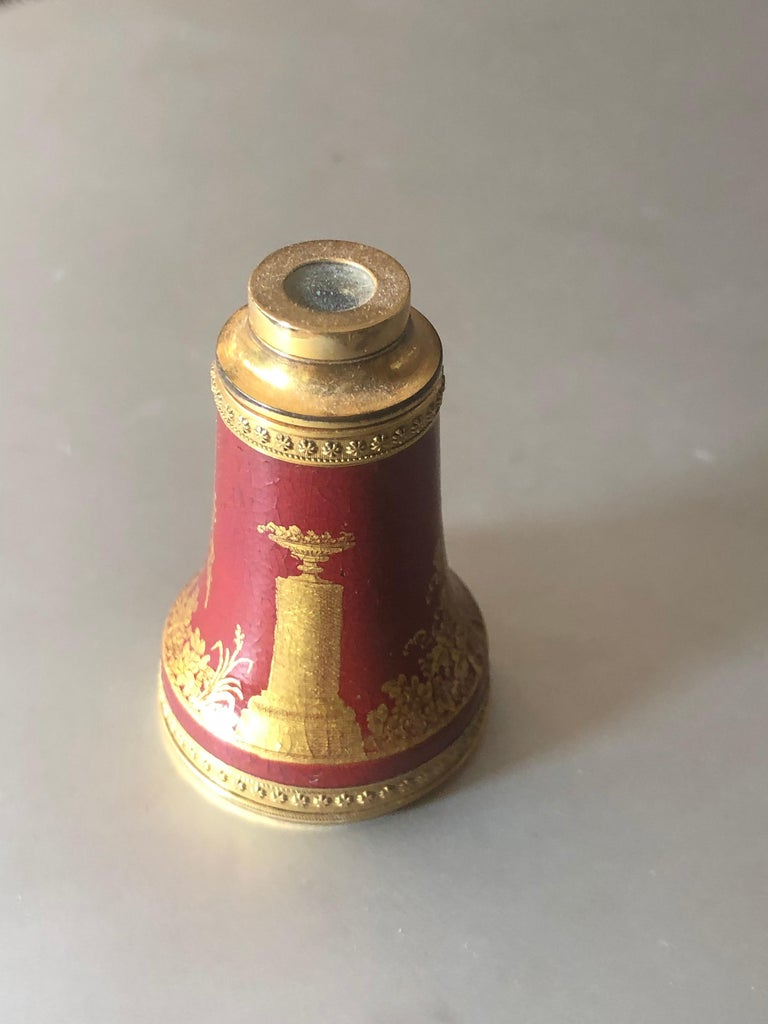 French Empire Painted and Lacquered Spyglass, Early 19th Century For Sale
