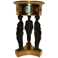 Empire Paris 'DIHL' Porcelain Gold-Ground Figural Basket Centrepiece