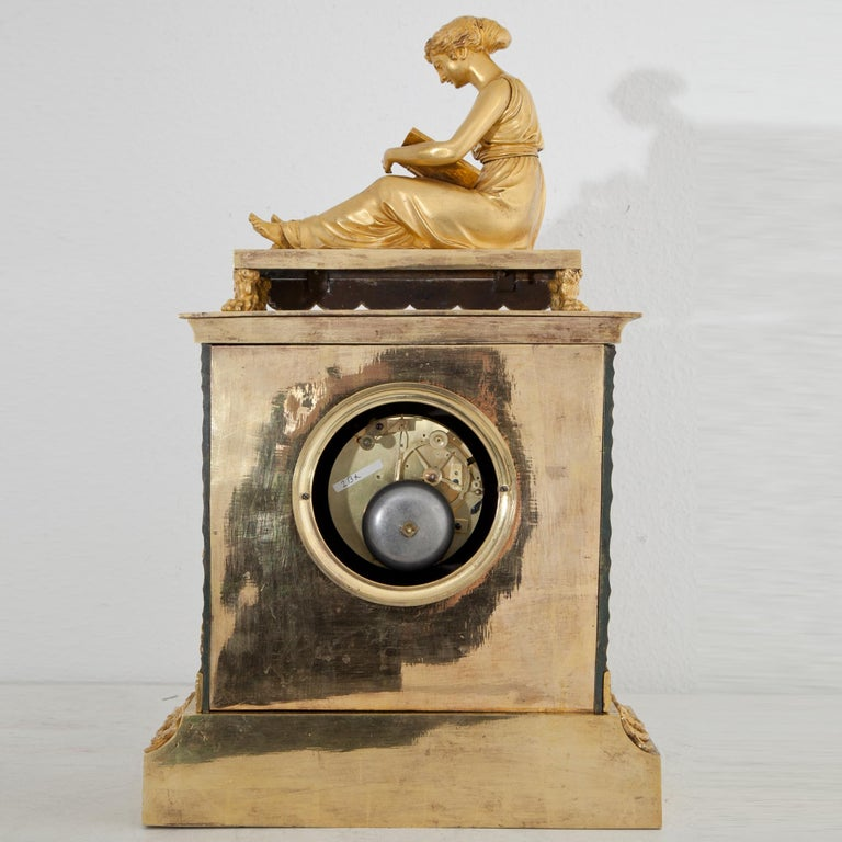 Empire Pendule with Allegory of Sciences, Mallot & Cie, Paris Late 18th Century For Sale 5
