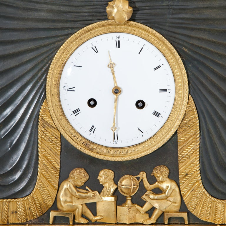 Empire Pendule with Allegory of Sciences, Mallot & Cie, Paris Late 18th Century For Sale 8